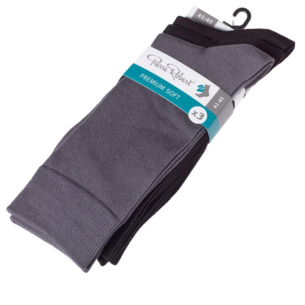 Premium modaalisukat 3-pack, black/black/grey 1-17, hi-res