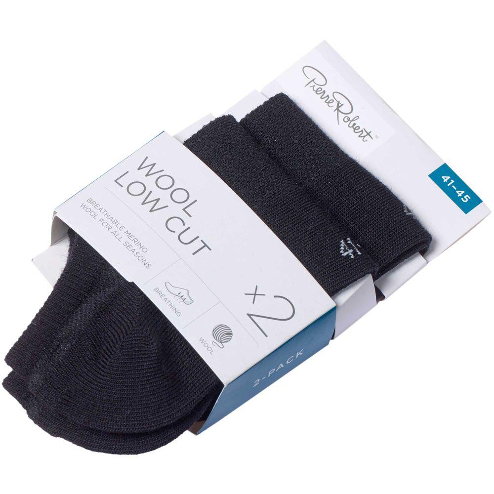 Merinovillaiset matalavartiset sukat 2-pack, black, hi-res