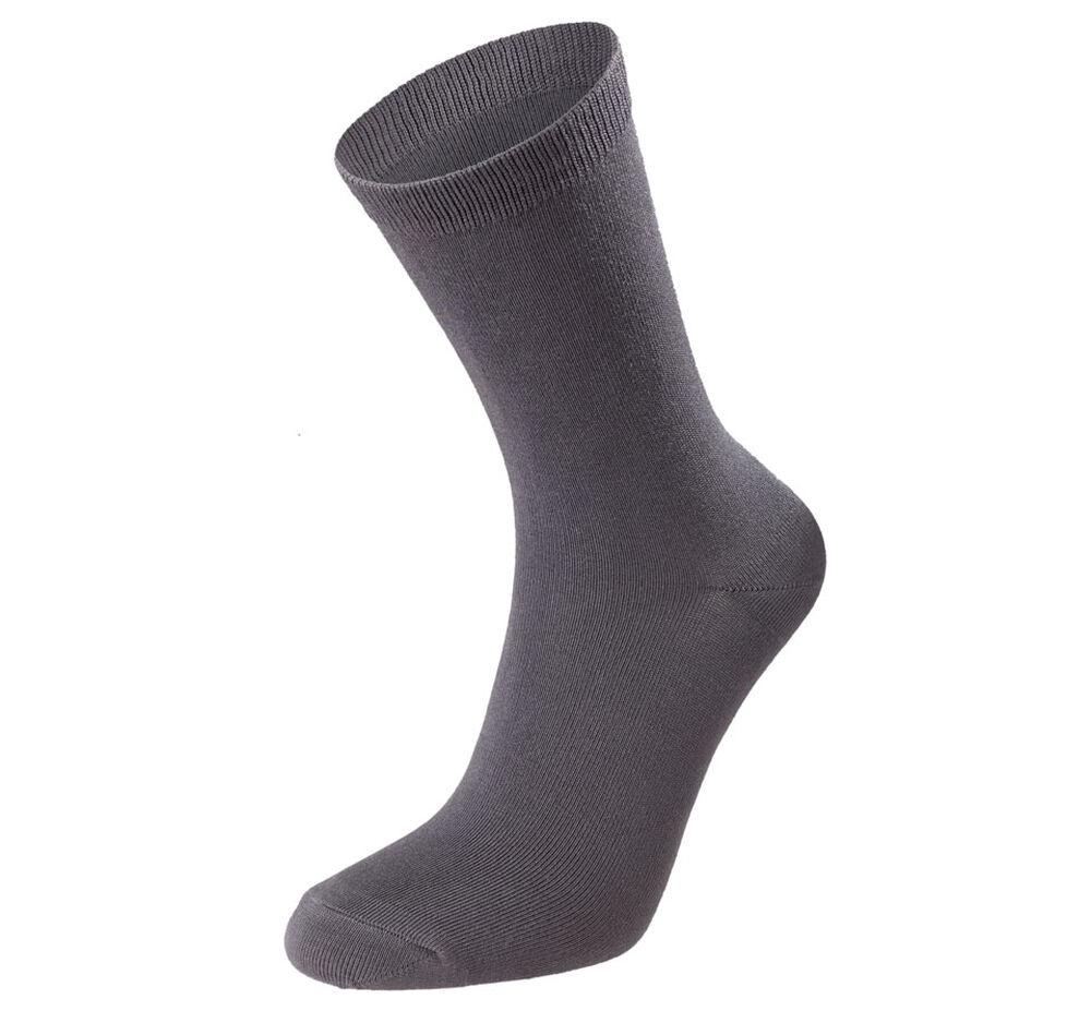 Strumpor modal 3-pack, black/dr grey/grey 2-17, hi-res