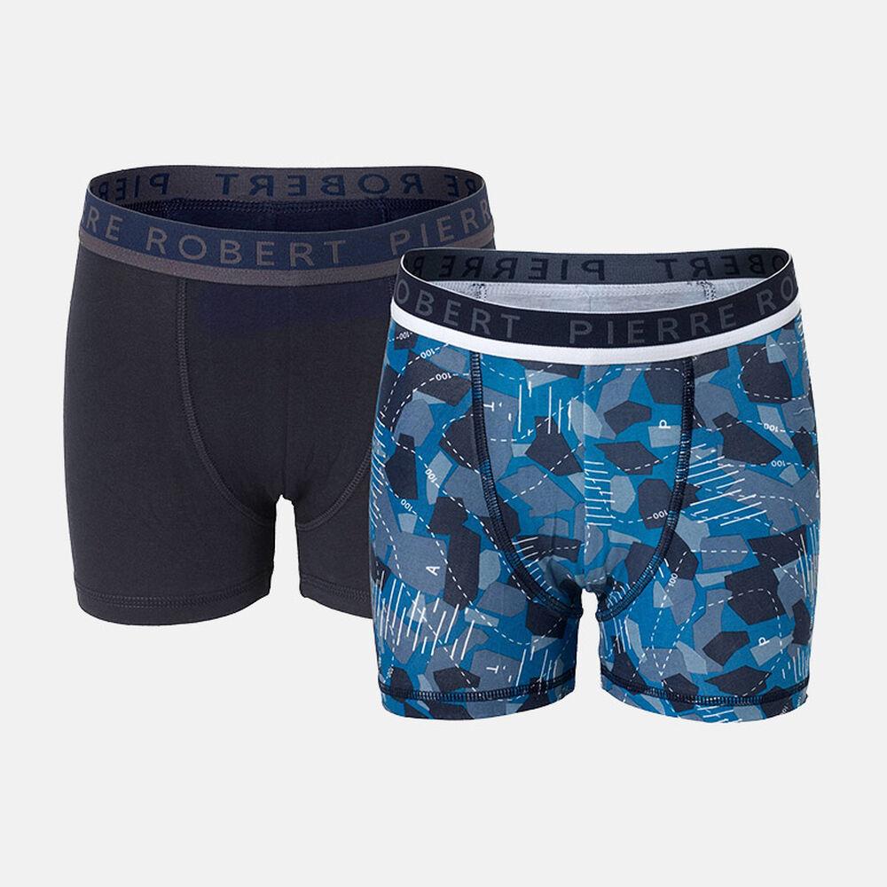 Poikien luomupuuvillaiset bokserit, blue/navy, hi-res