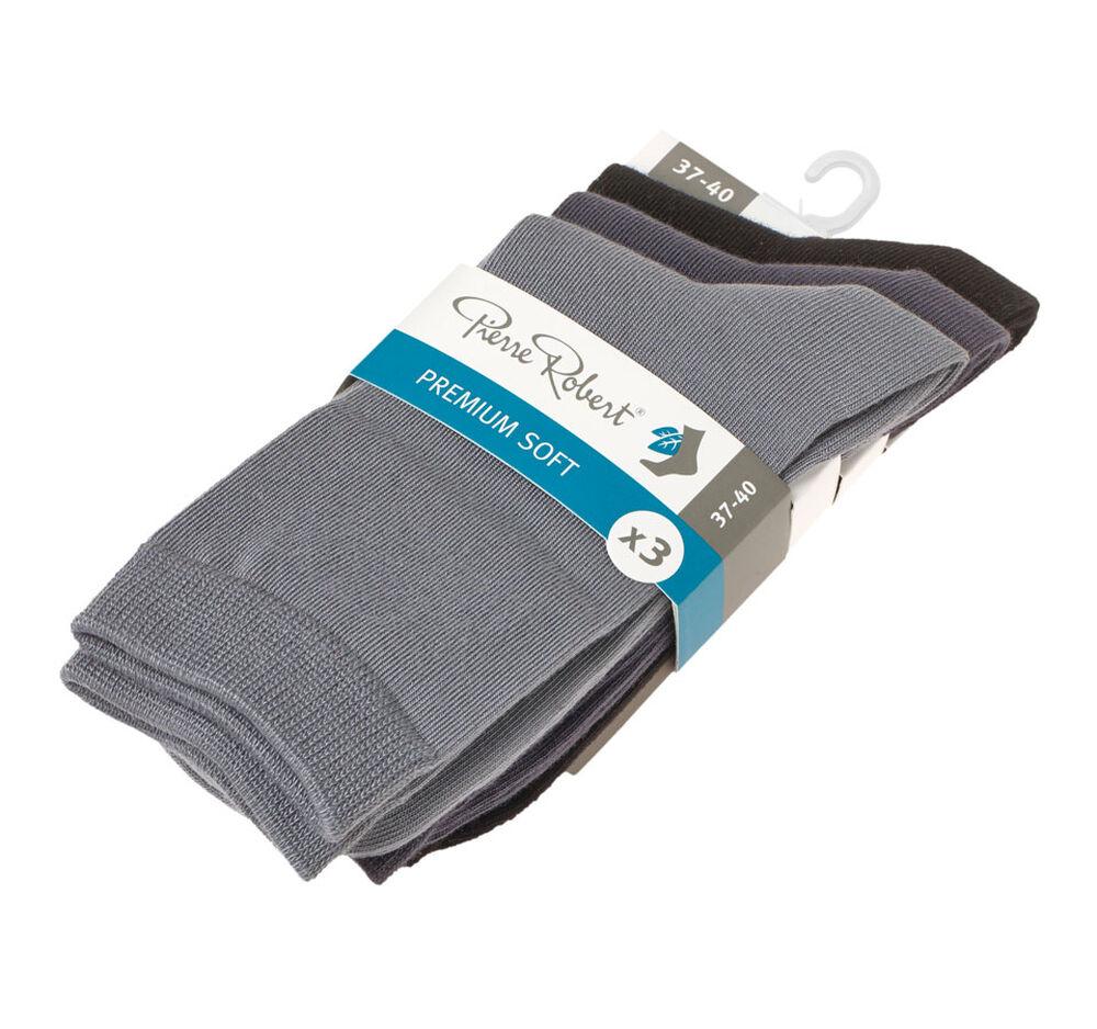 Premium soft strumpor modal x3 black/grey, black/dr grey/grey 2-17, hi-res