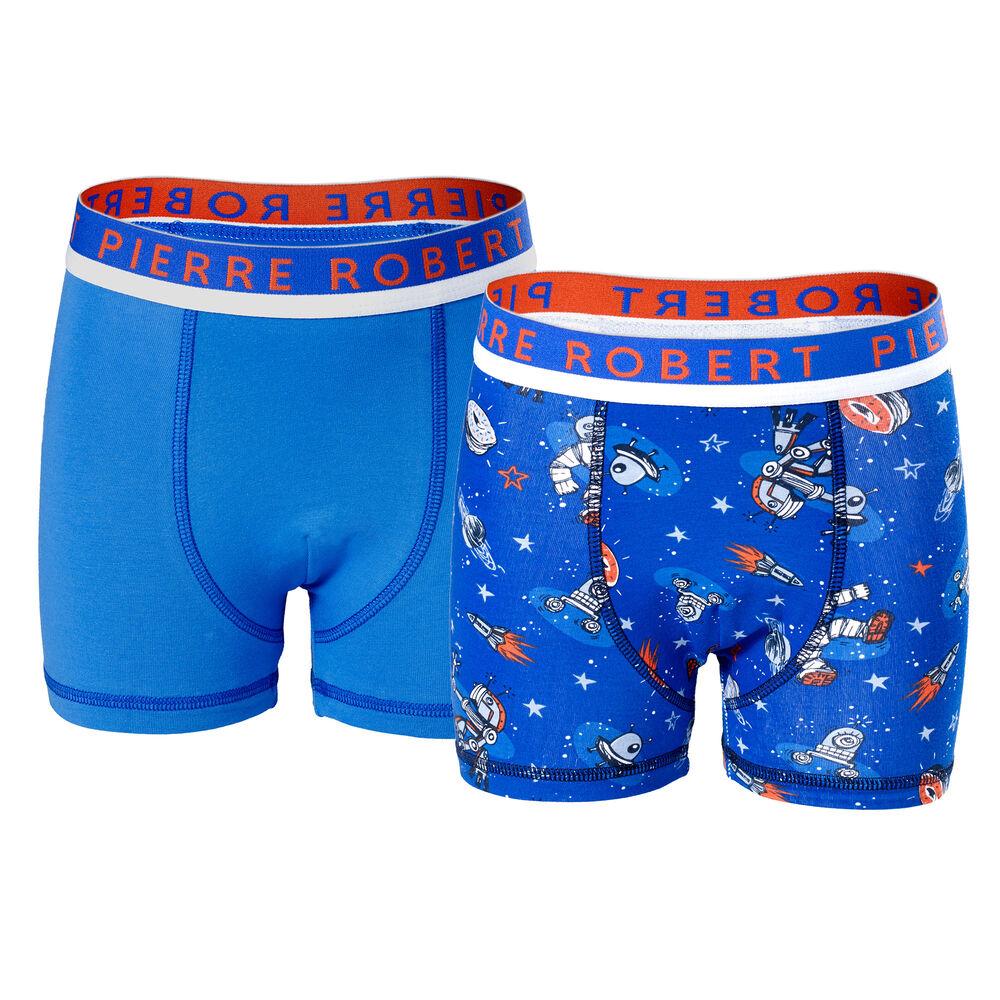 Kalsonger ekologisk bomull 2-pack pojke 3-8 år, strong blue pattern &blue 2-17, hi-res