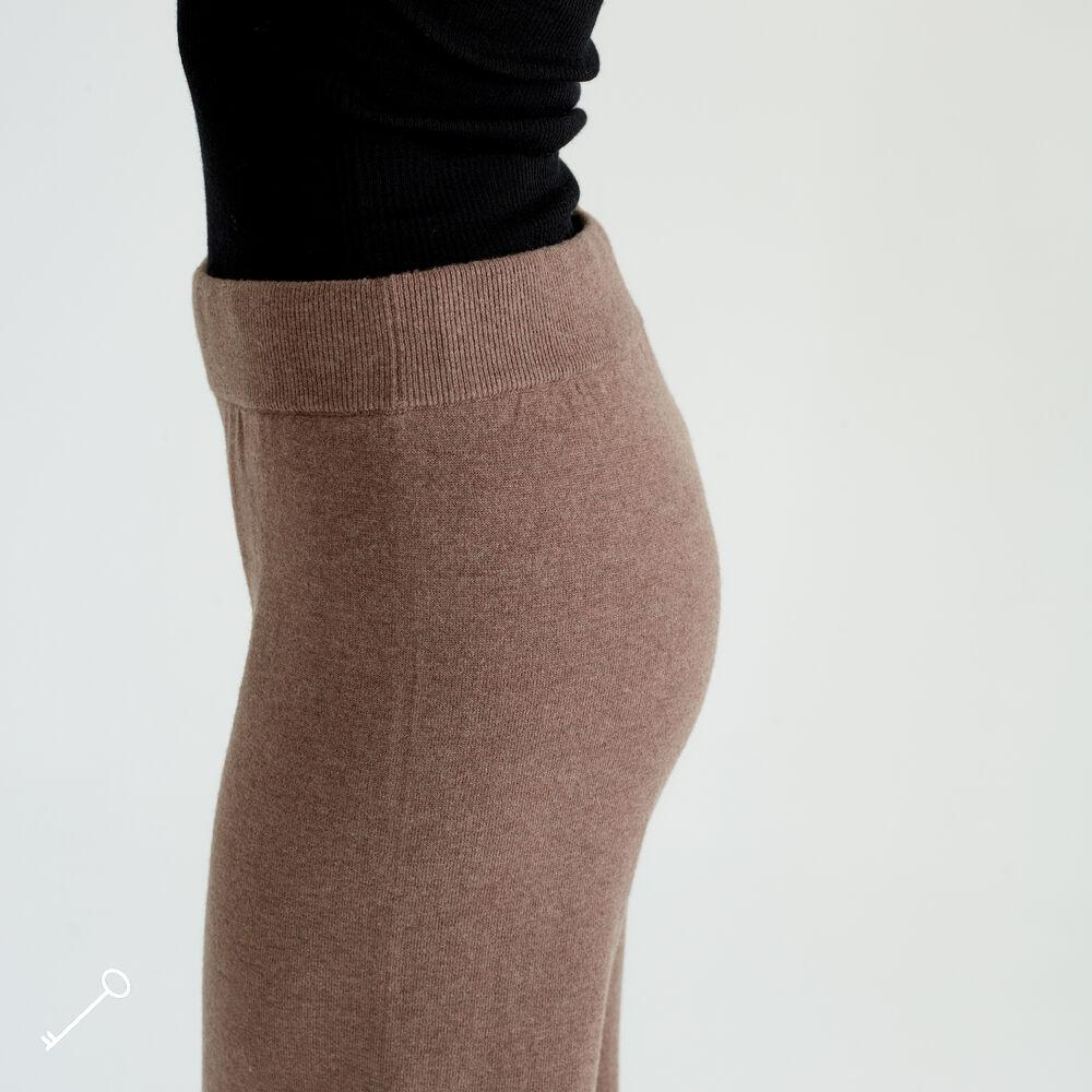 Merinovillaiset Loungewear housut, deep taupe, hi-res