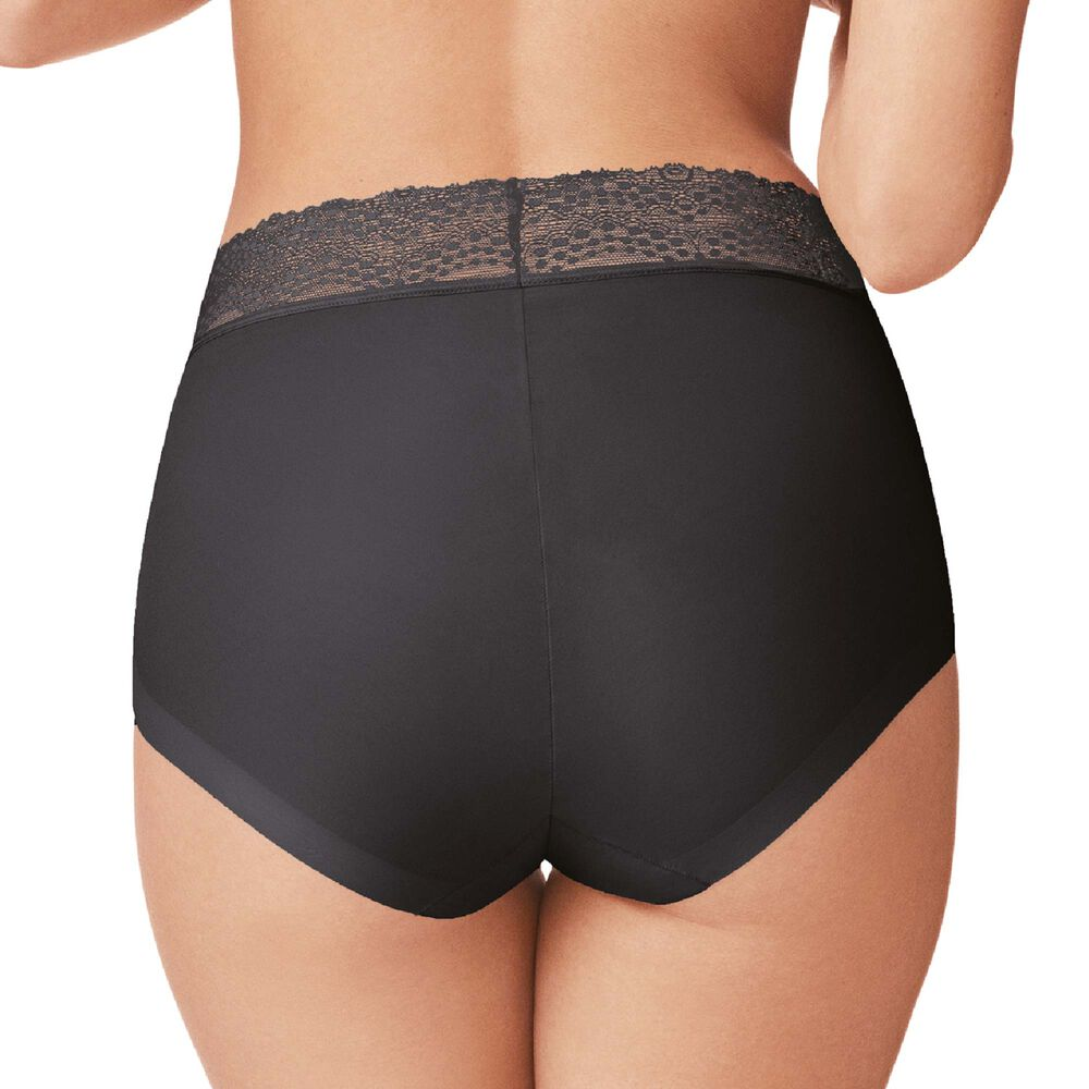 Invisible high waist trosor spets, black, hi-res