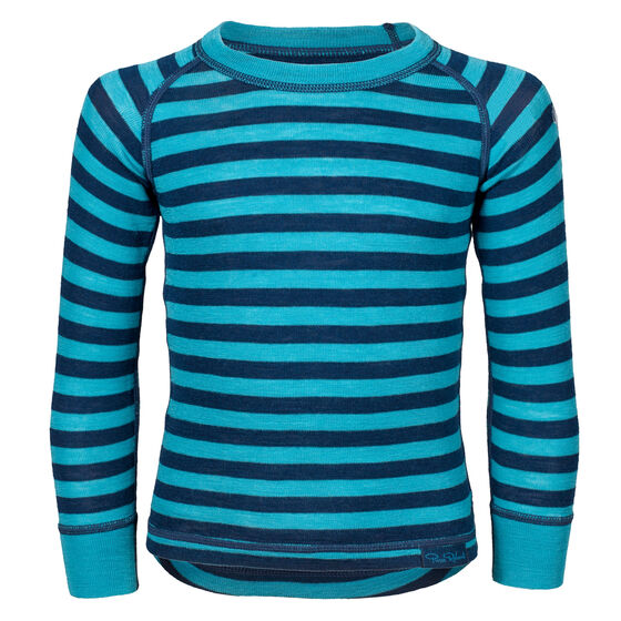 WOOL TOP KIDS Navy Mint Stripe 2-17, navy mint stripe 2-17, hi-res