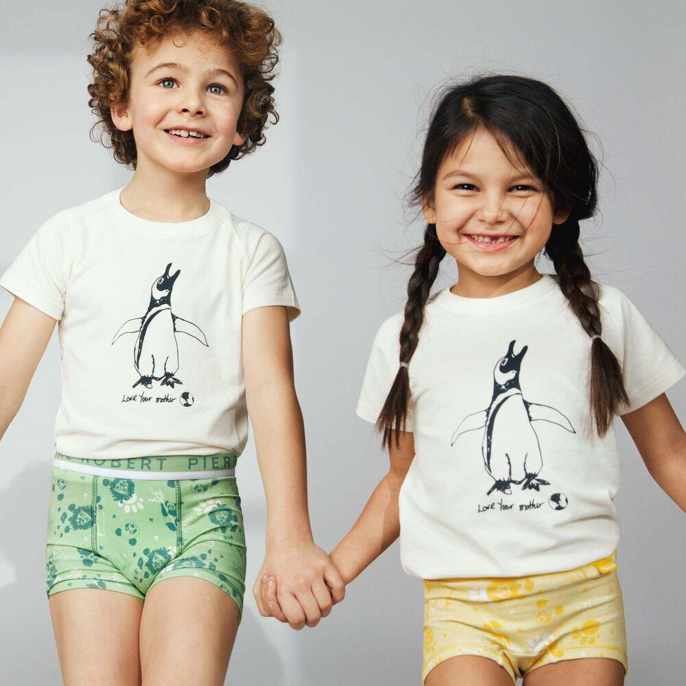 Lasten luomupuuvillainen t-paita, white, hi-res
