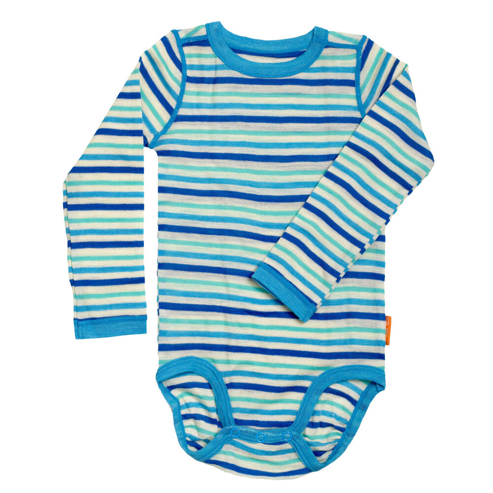 Sommerull Baby Body, off white blues, hi-res