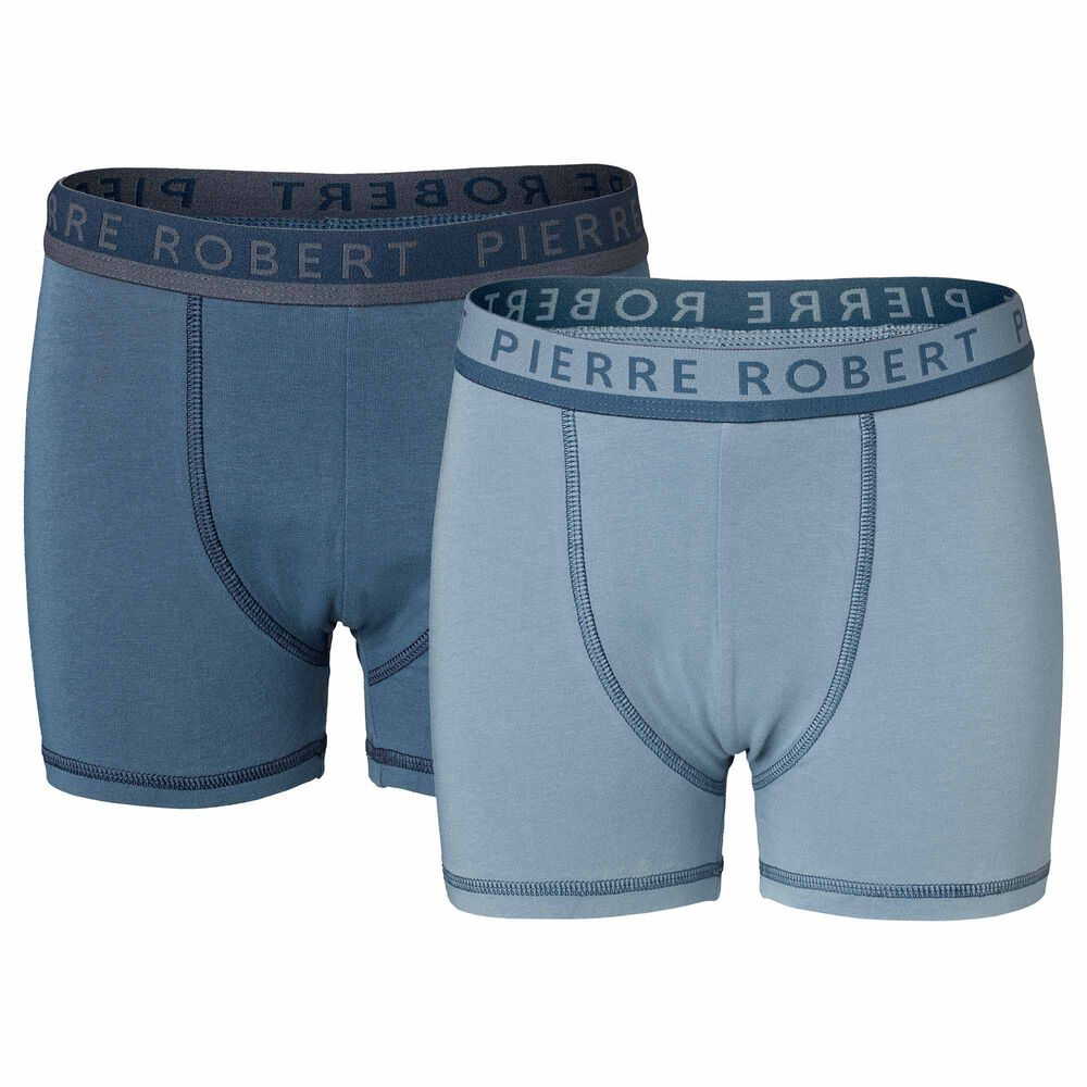 Poikien luomupuuvillaiset bokserit, slate blue, hi-res