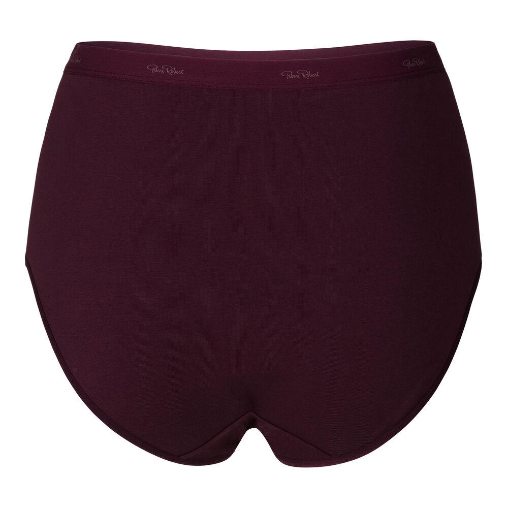 Luomupuuvillaiset korkeavyötäröiset alushousut, red grape, hi-res
