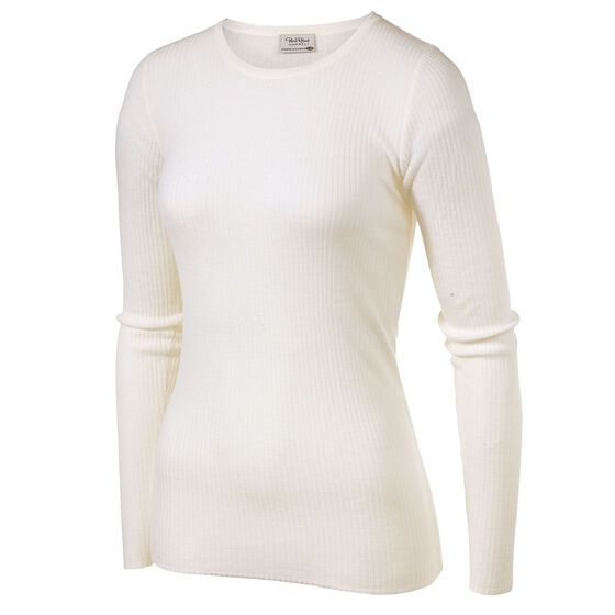 WOOL LONG SLEEVE HANNEL Winter White, winter white, hi-res