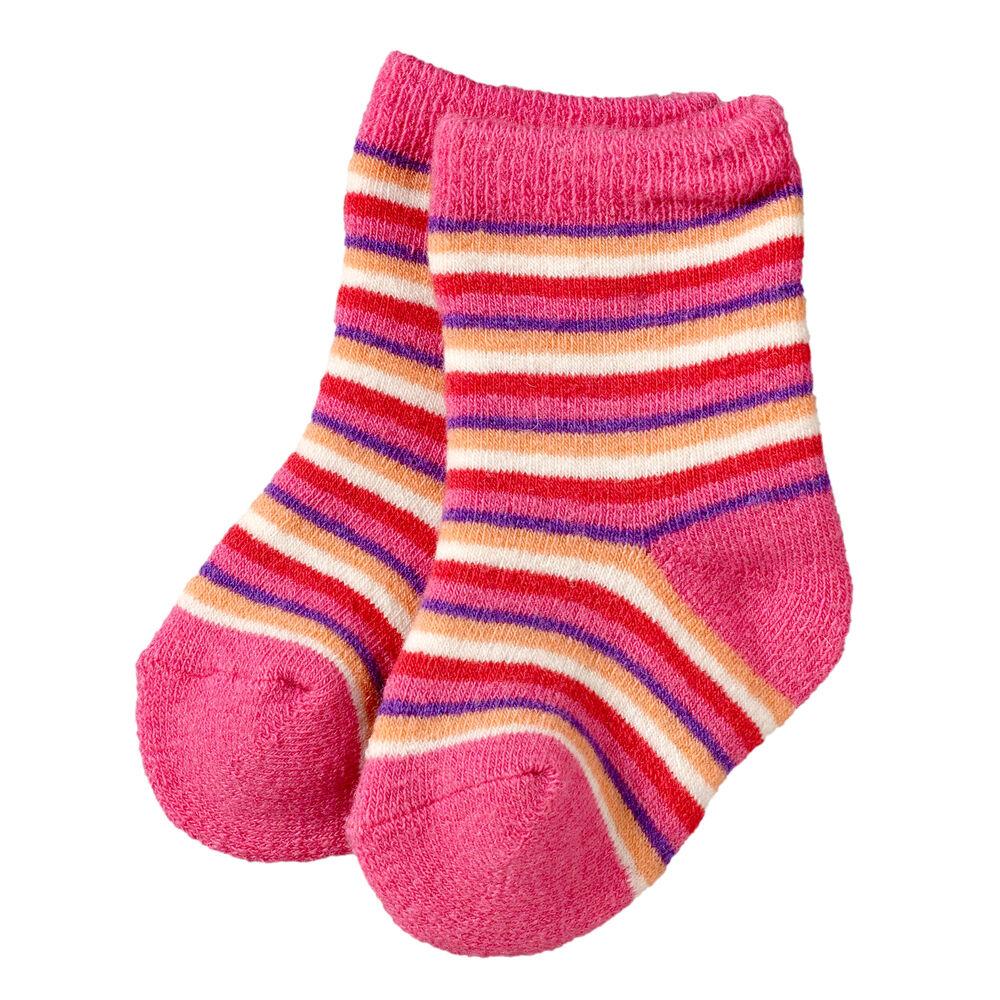 Baby villasukat 2-pack, pink-lilac, hi-res