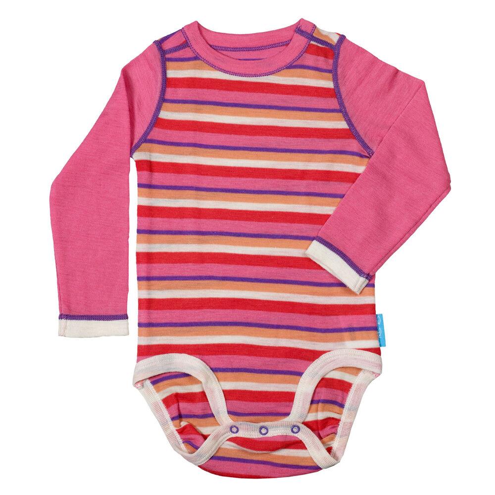 Ullbody baby, pink-coral-off-white, hi-res