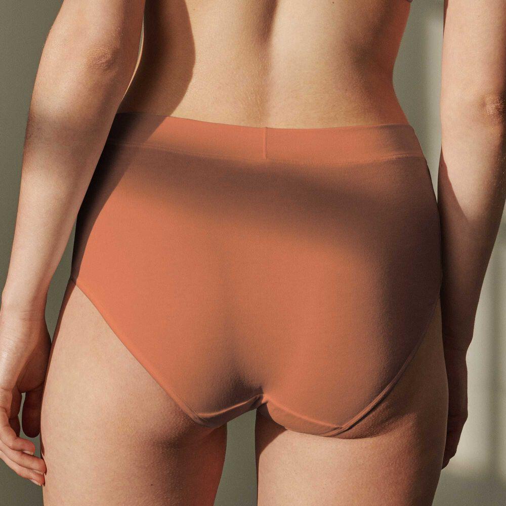 Luomupuuvillaiset korkeavyötäröiset alushousut Jenny Skavlan, earth, hi-res