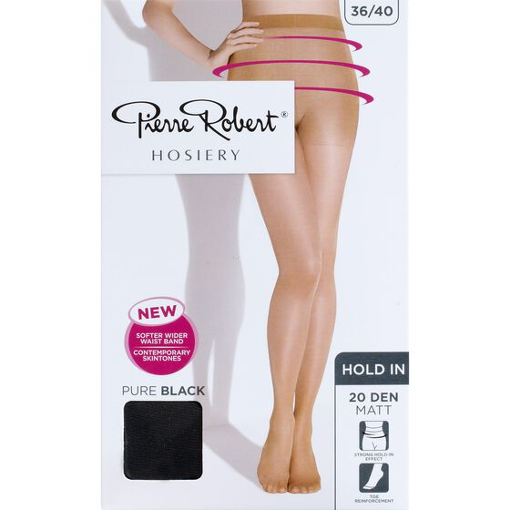 TIGHTS 20 DEN MATTE PURE BLACK, pure black, hi-res