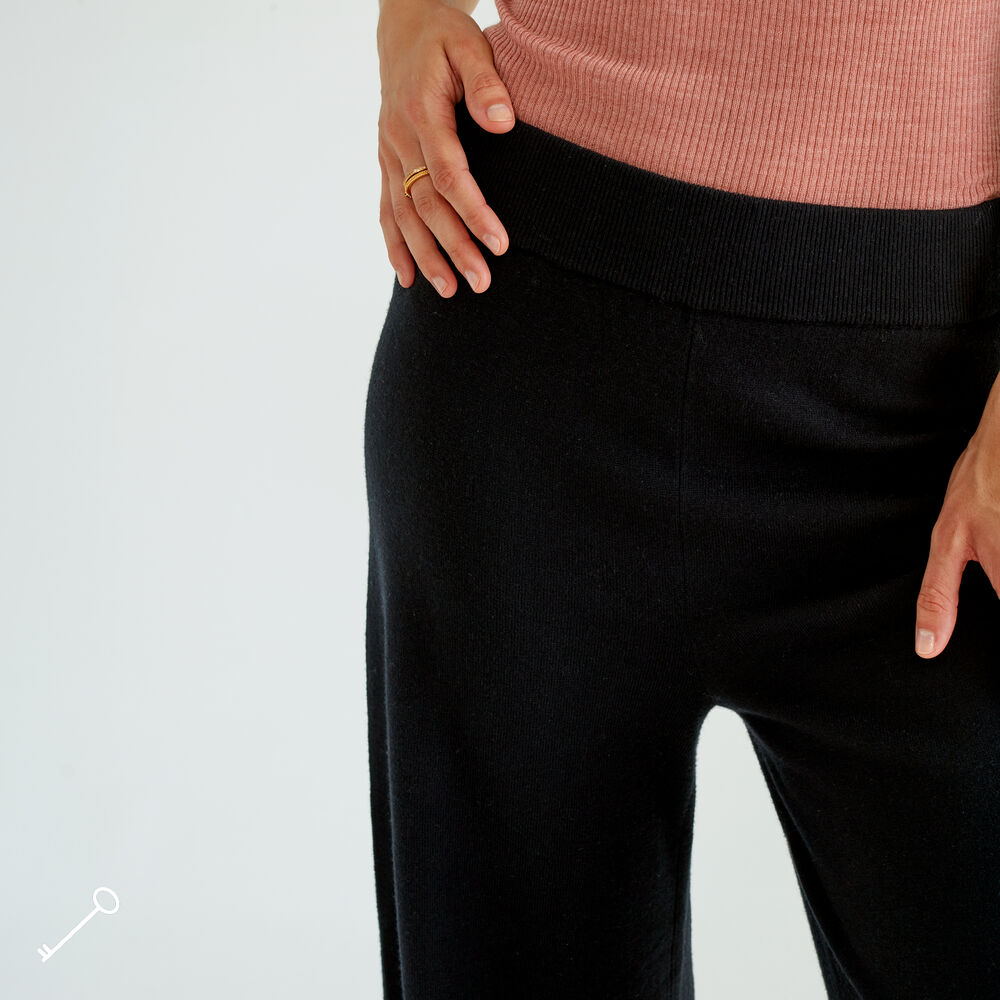 Merinovillaiset Loungewear housut, black, hi-res