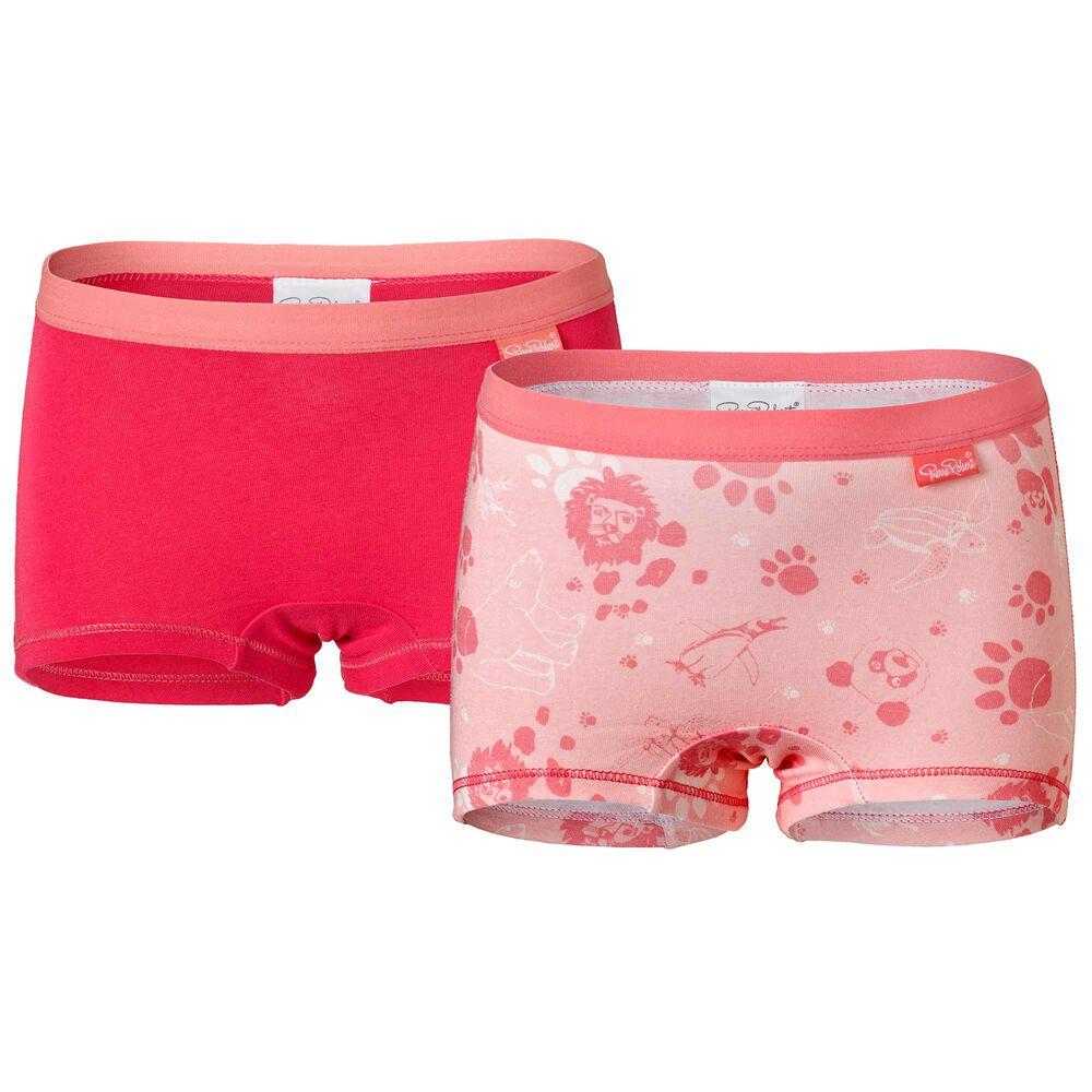 Tyttöjen luomupuuvillaiset bokserit, pink, hi-res