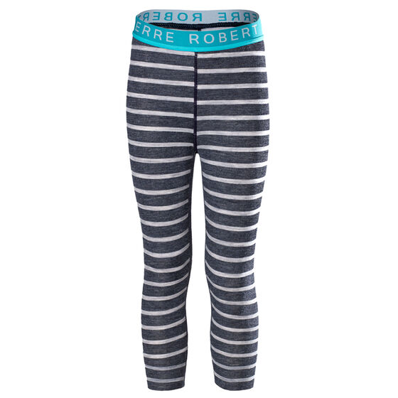 WOOL LONGS KIDS Grey Stripe 2-17, grey stripe 2-17, hi-res