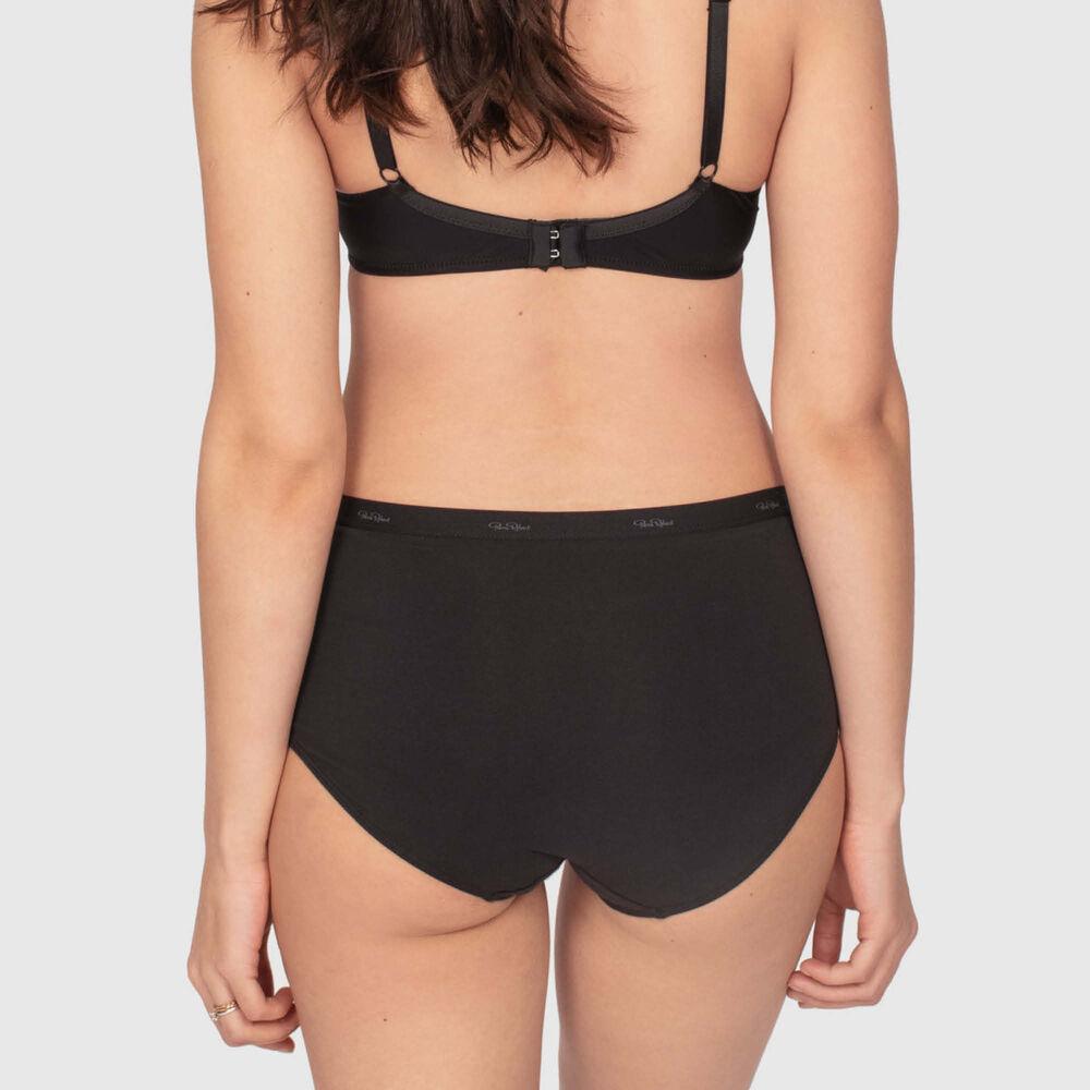 Luomupuuvillaiset korkeavyötäröiset alushousut, black, hi-res