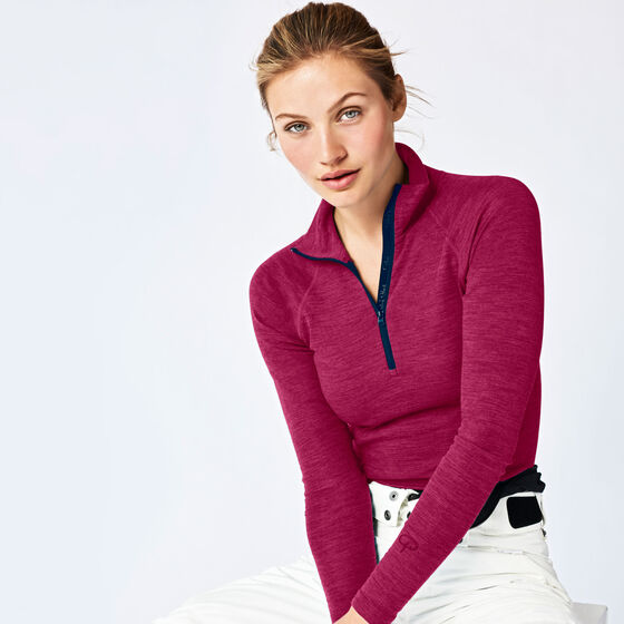 SPORT WOOL LONG SLEEVE Pink Berry 2-17, pink berry 2-17, hi-res