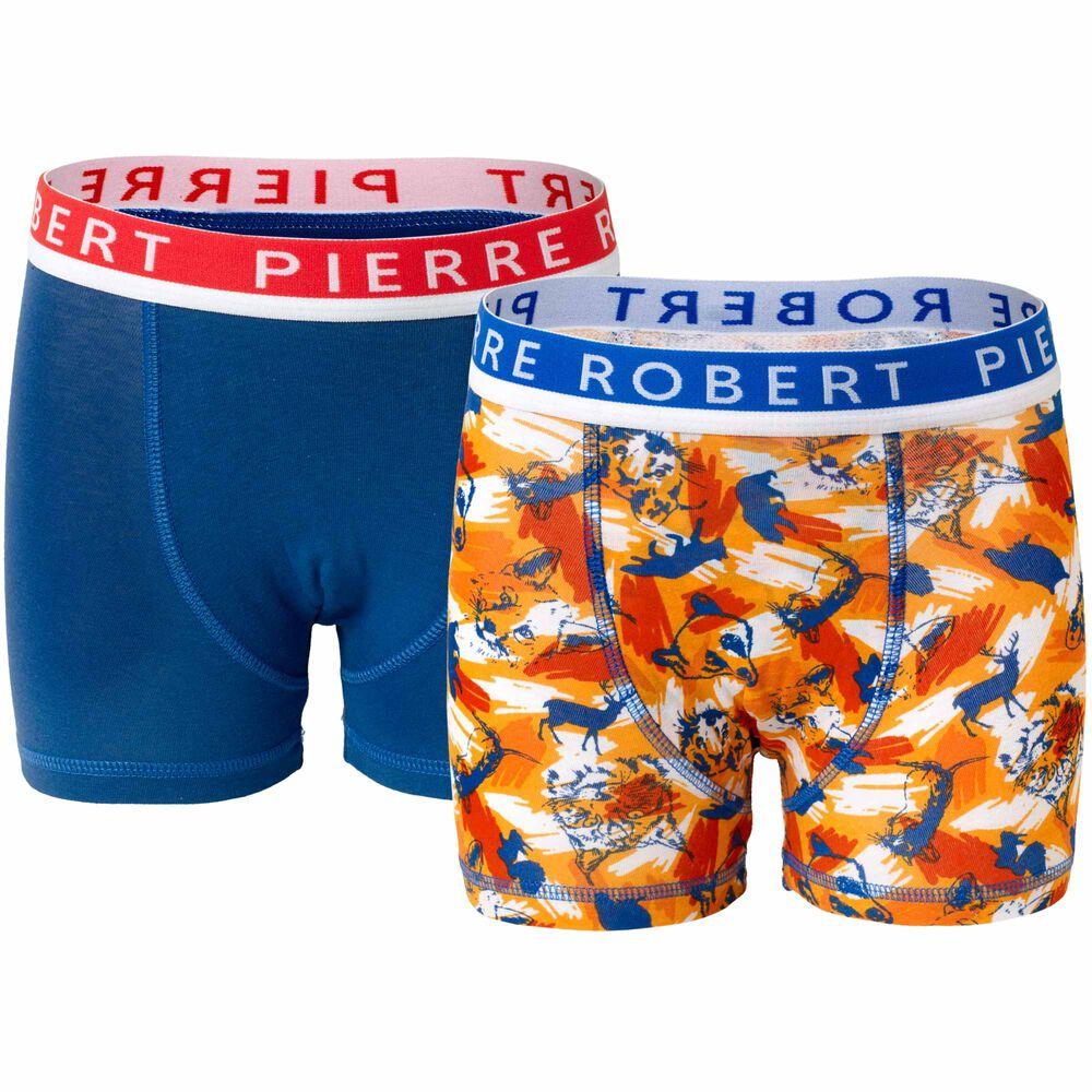 Poikien luomupuuvillaiset bokserit, orange/blue, hi-res